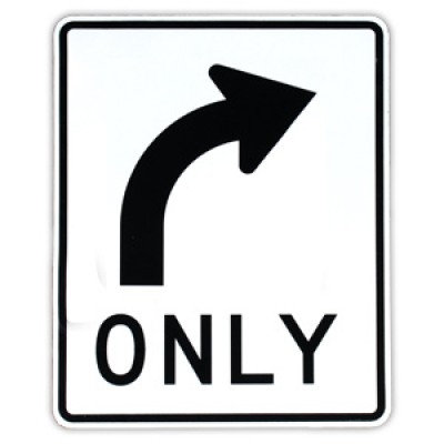 R3-5R Right Turn Only