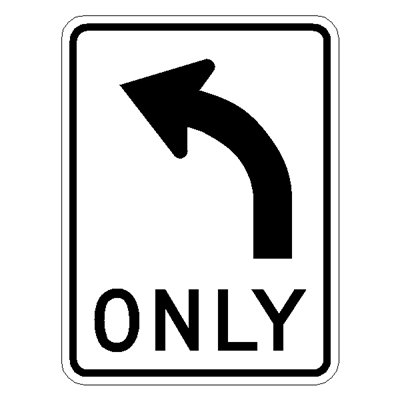 R3-5L Left Turn Only
