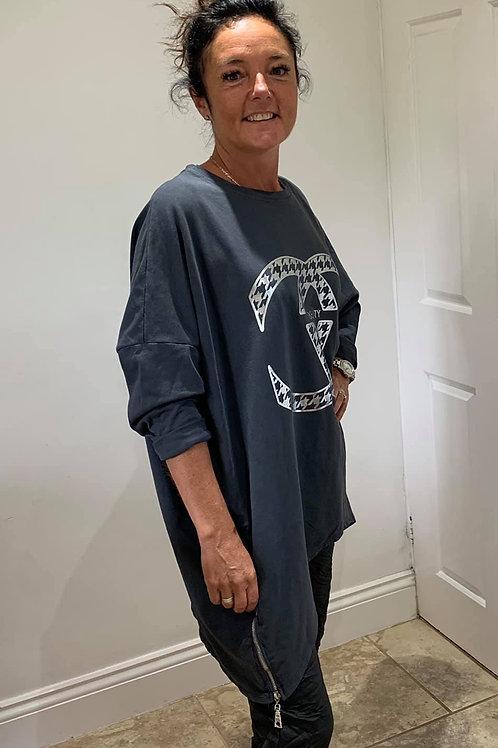 Cotton Longer Length Sweater