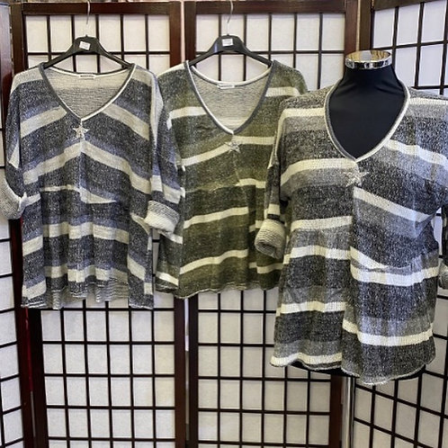 Cotton/Wool Stripe Jumper with Star