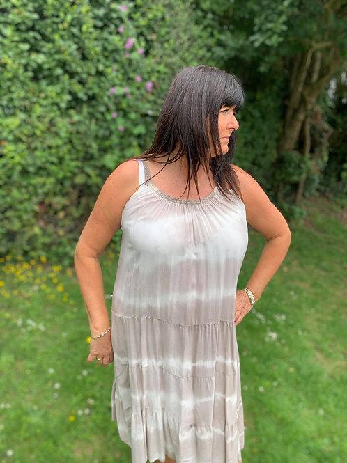 Tie Dye Strappy Dresses