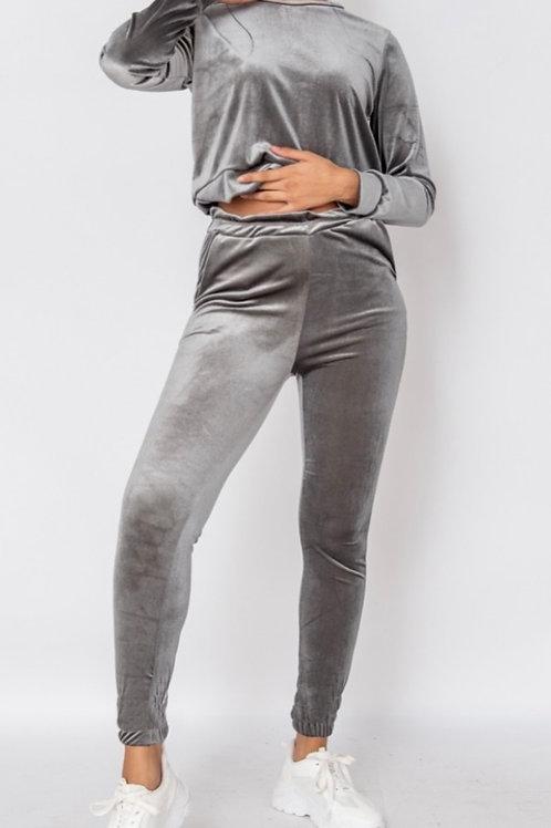 Velour Grey Loungewear