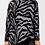 Thumbnail: Zebra Cowl Neck Knitted Jumper
