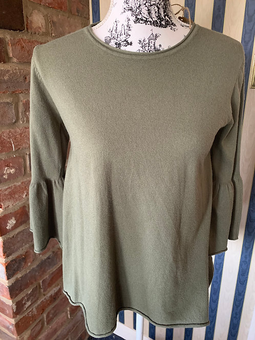 Fluted Sleeve Cashmere Effect Jumper