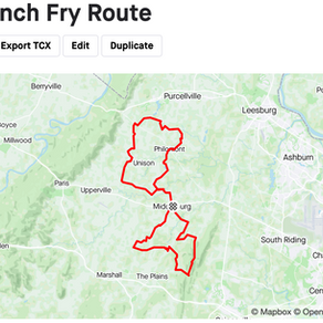 Shared French Fry Route: Middleburg, Virginia