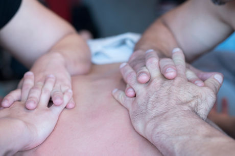 Joe and Laura Doing 4Handed at the World Massage Championships 019.jpg