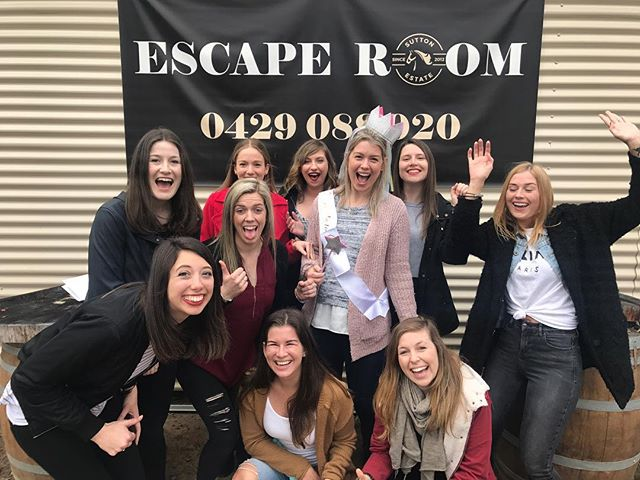 Hens party fun!!!! #wineescaperoom #wine