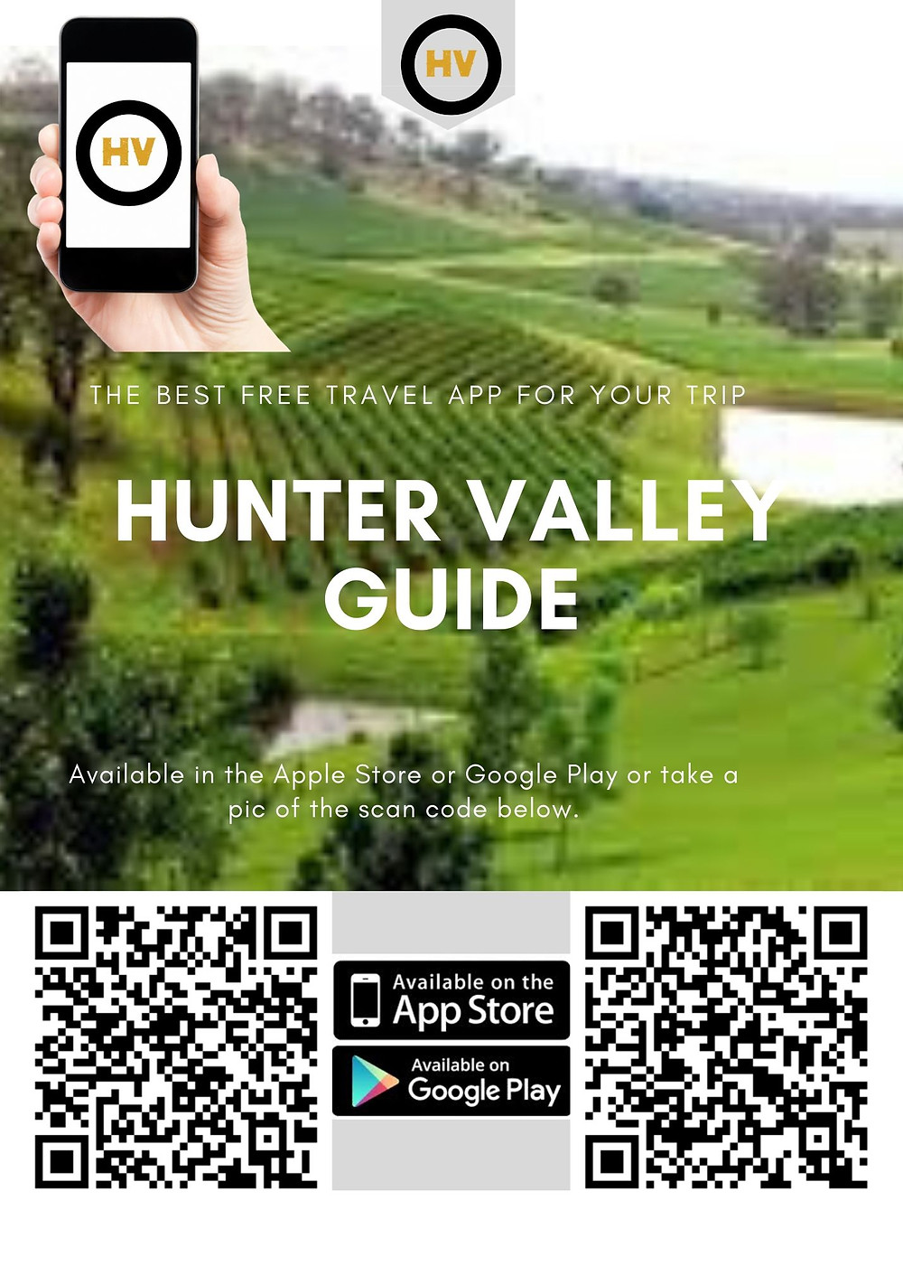 Download the Free Hunter Valley App