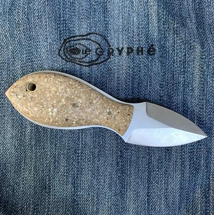 Gryphé - couteau en coquilles d'huîtres recyclées
