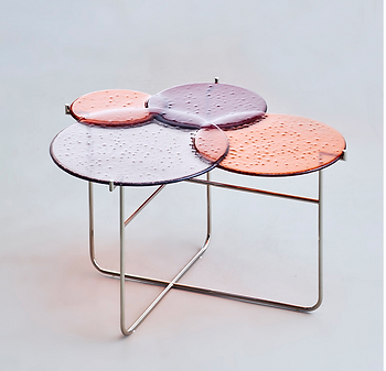 Pastille Side Table Red M