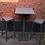 Thumbnail: Table haute/mange debout - en matières recyclées