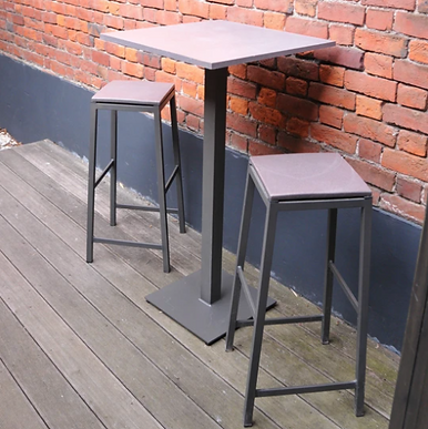 Table haute/mange debout - en matières recyclées