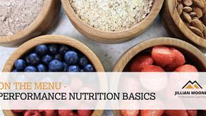 Webinar: Performance Nutrition with Jillian Mooney