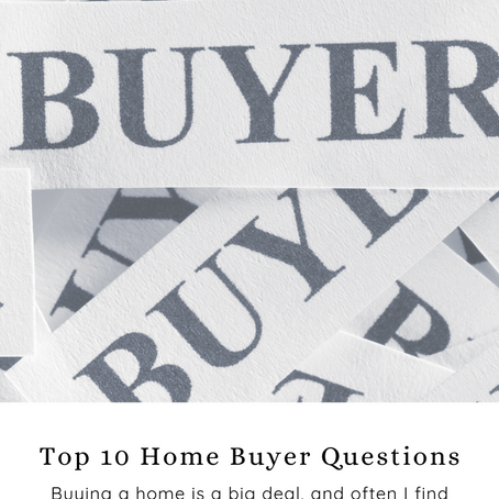 Most Common Buyer Questions