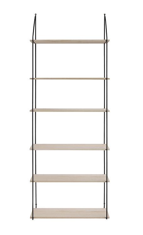 6 Tier Metal & Wood Wall Shelves