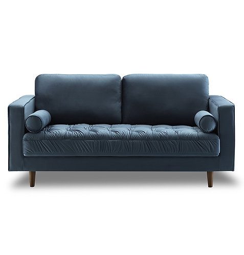 Light blue velvet Bente Tufted Loveseat 2-Seater Sofa