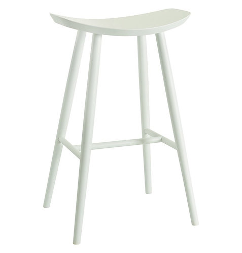 Philana Bar Stool- White lacquered