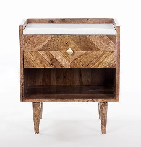 Abha Nightstand/Bedside Table