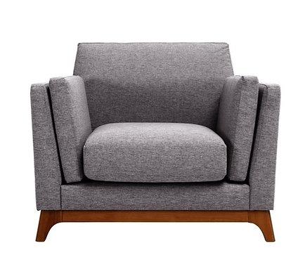 Chloe 1 Seater Armchair - Pebble & Cocoa