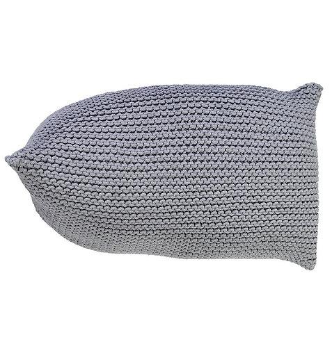Handmade Knitted Beanbag- Glacier Gray