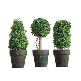 "6""H Artificial Topiary in Pot, set of 3"