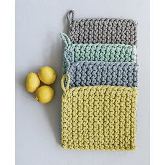 """8"""" Square Cotton Crocheted Pot Holders, set of 4"""