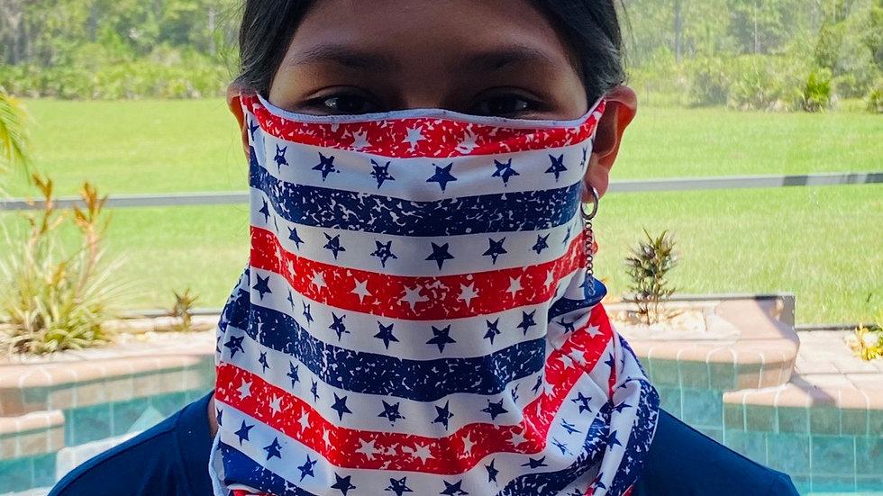 American flag full face mask