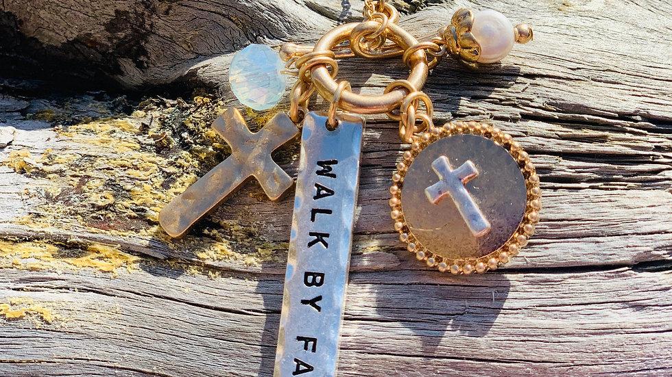 Walk by faith necklace