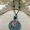 Thumbnail: Starfish Necklace with turquoise beads on brown leather