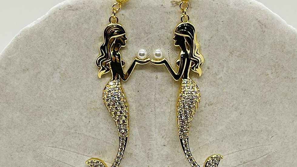 Mermaid earrings / nickle free