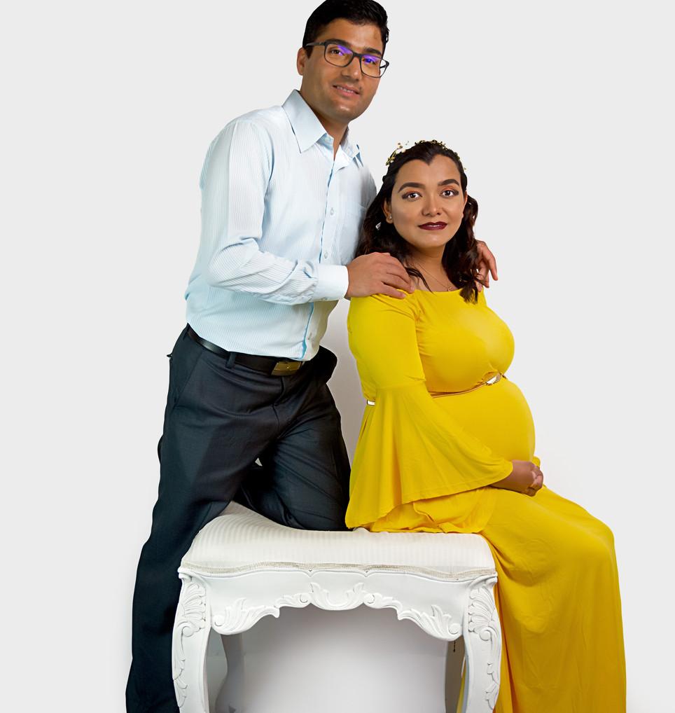 Jasmine Yellow Maternity Dress