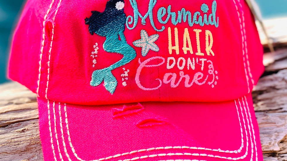 Mermaid Hair don't care vinage caps