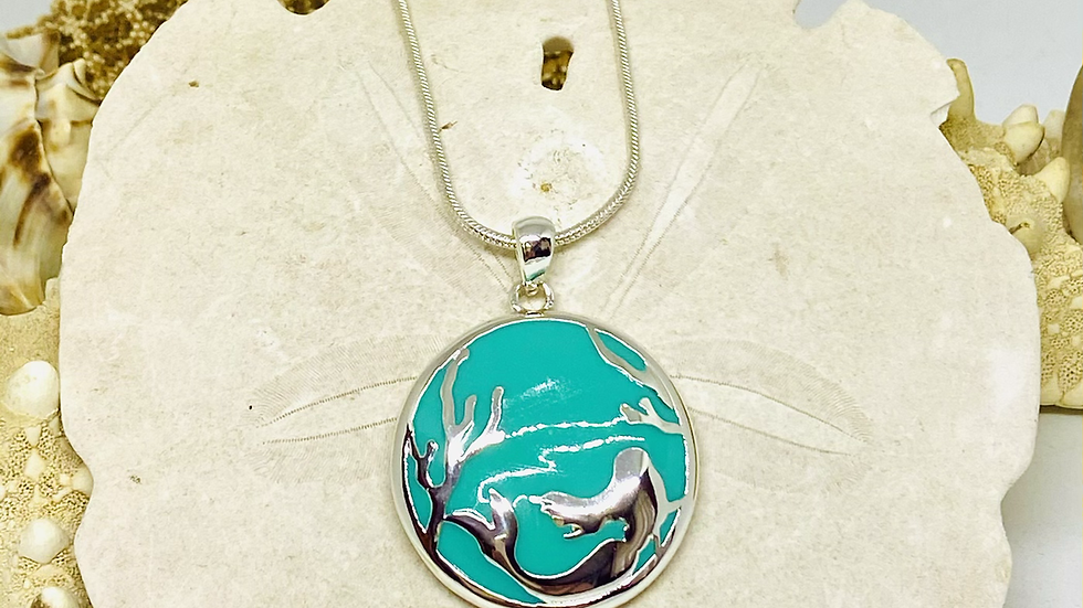 Mermaid necklace on 18 inch chain