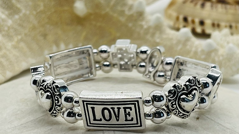 Faith , Hope and Love Stretchable Bracelet
