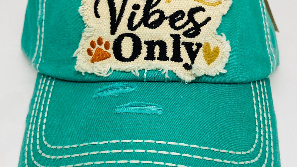Dog vibes only vintage cap