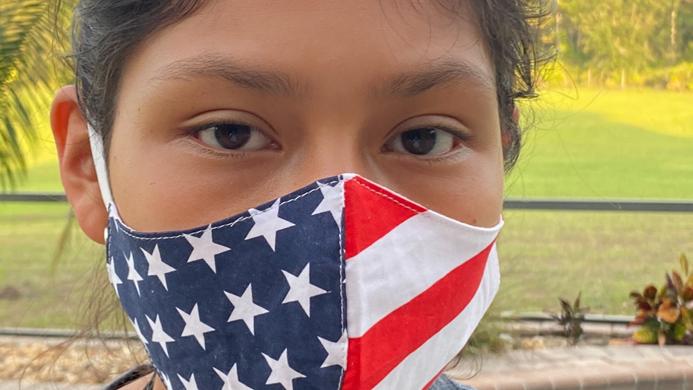 Patriotic mask  100% cotton , Adjustable ear straps