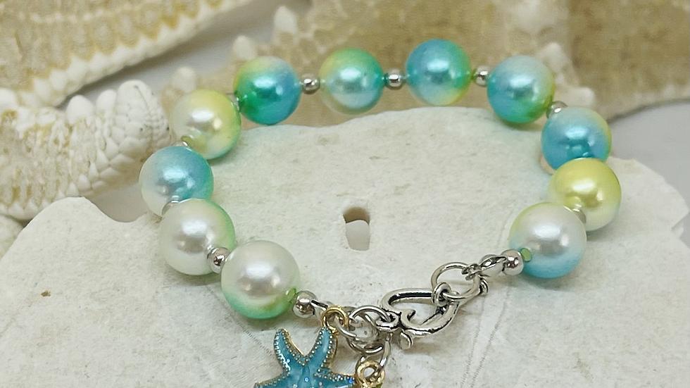 Starfish and shell bracelet
