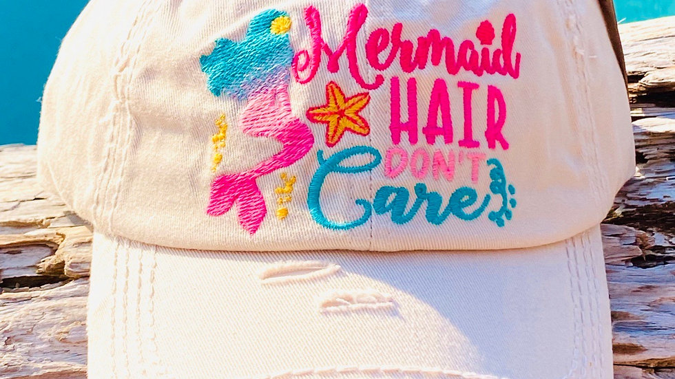 Mermaid hair I don't care vintage tap