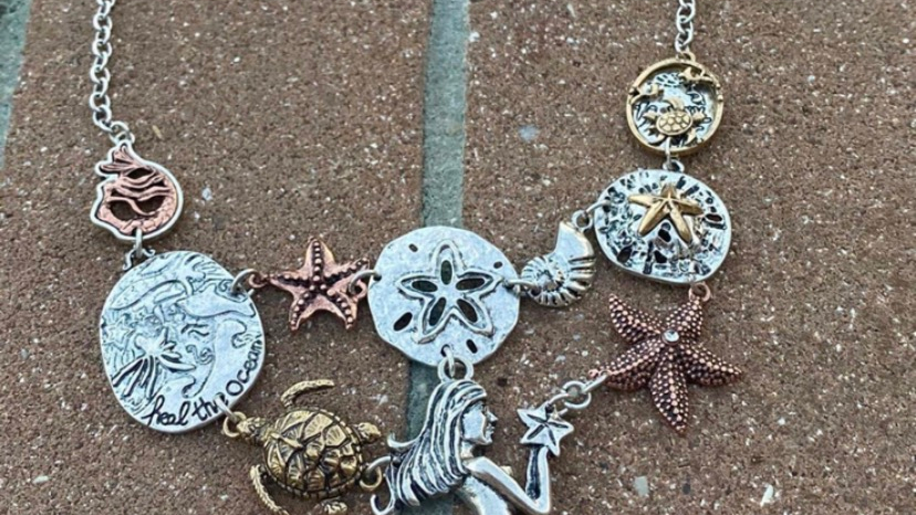 coastal charms necklace