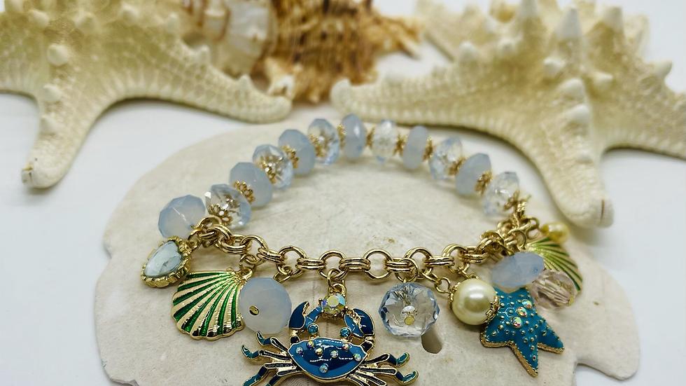 Coastal charm bracelet