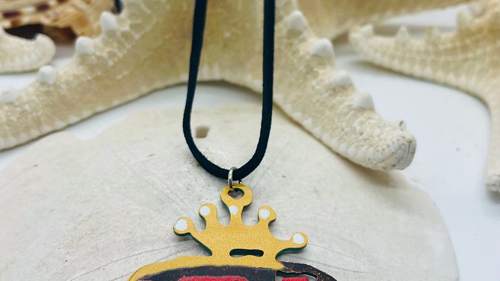 Camper necklace on Suede leather