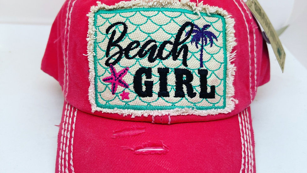 Beach girl vintage cap