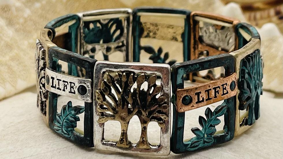 Tree of life bracelet stretchable