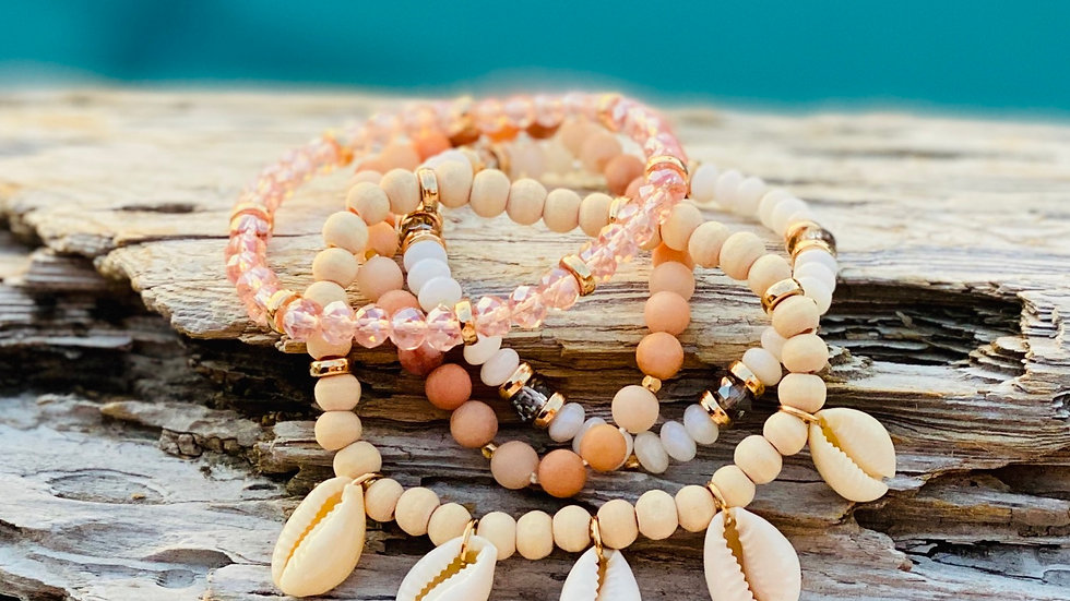 4pc set of coastal bracelets