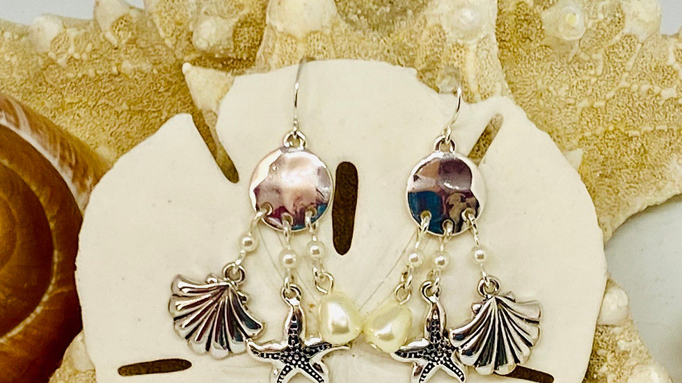 Beautiful coastal earrings
