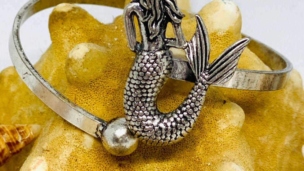 Mermaid titanium adjustable bangle
