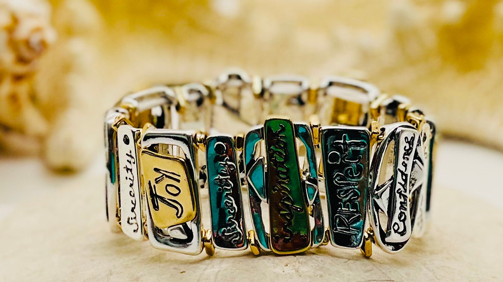 Inspirational Bracelet that is Stretchable