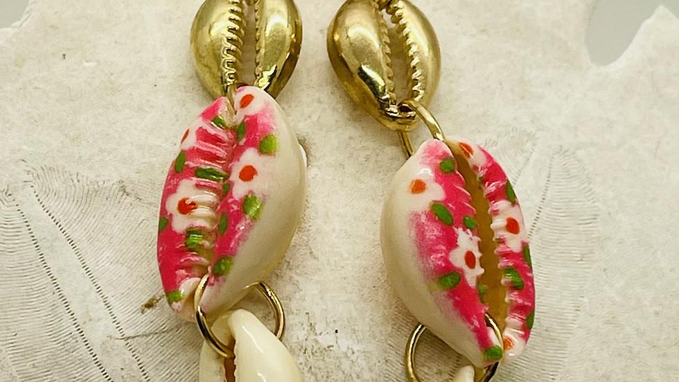 Crowley earrings with flower print