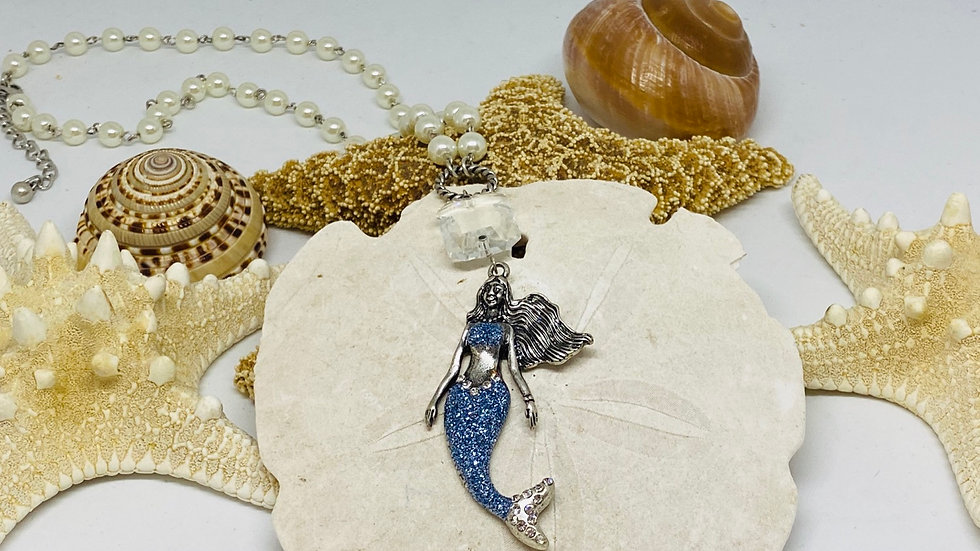 Mermaid necklace 22 inches in length