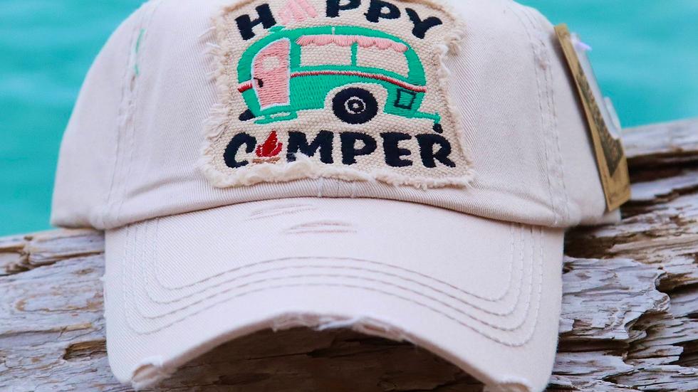 Vintage cap Happy camper